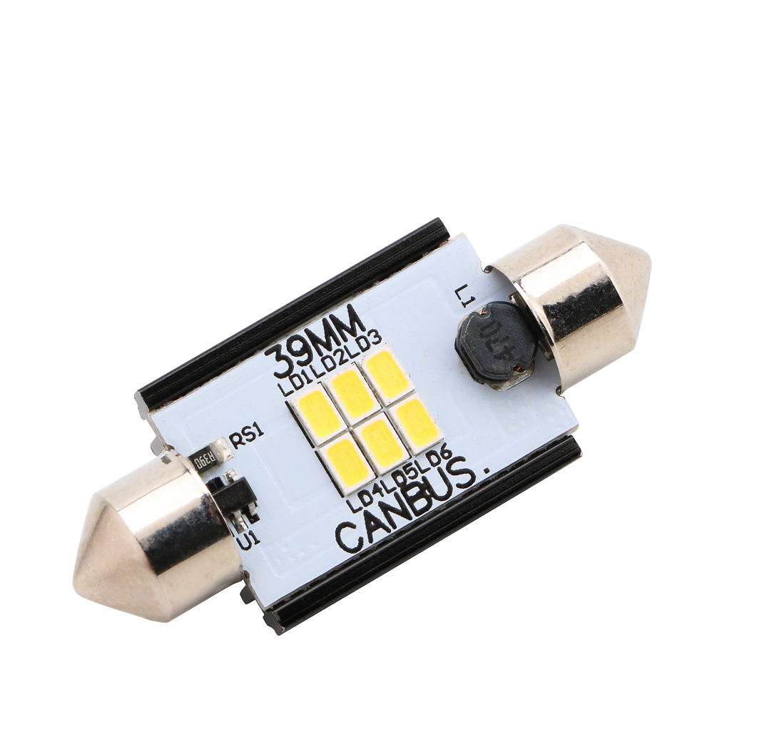 Led Auto Sofit 39mm Canbus 6 SMD 3020 fara polaritate - BTLE1276