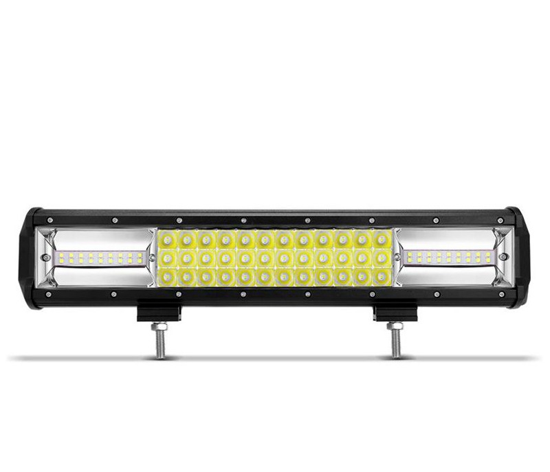 "LED Bar Auto 216W, leduri pe 3 randuri, 12V-24V, 15120 Lumeni, 15,5""/39,4 cm, Co"