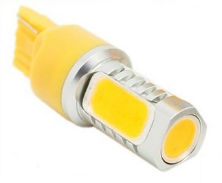 Led auto T20 6W High Power Galben